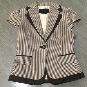 BCBGMAXAZRIA short sleeved striped blazer XS